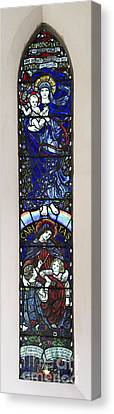 Karl Parsons Stained Glass Window Bibury Canvas Print