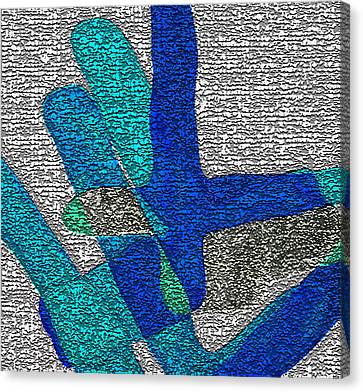 Karlheinz Stockhausen Tribute Falling Shapes Digital One Canvas Print