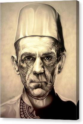 Karloff Canvas Print by Fred Larucci