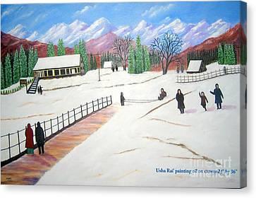 Kashmir Canvas Print by Usha Rai