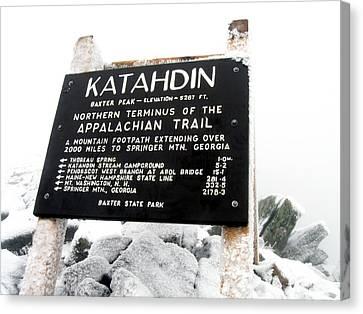 Katahdin - Baxter Peak Canvas Print