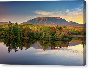 Maine Mountains Canvas Print - Katahdin At Sunset by Rick Berk
