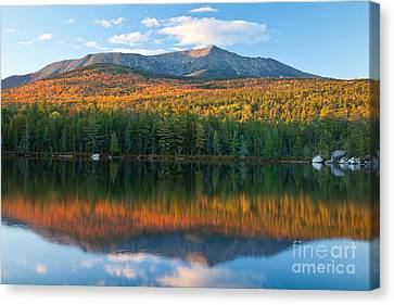 Katahdin Glow Canvas Print by Susan Cole Kelly