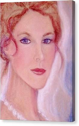 Canvas Print featuring the drawing Kate by Denise Fulmer