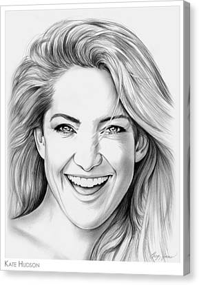 Kate Hudson Canvas Print by Greg Joens