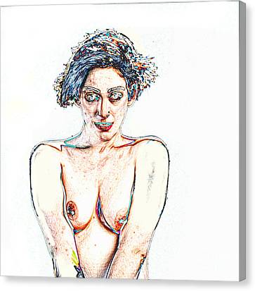 Kate In Nude Fine Art Painting Nude Girl Prints 1194.02 Canvas Print by Kendree Miller