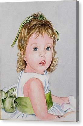 Kathryn - Commissioned Portrait Canvas Print