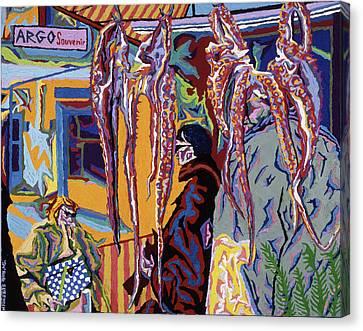 Kathy's Octopuses  Canvas Print by Robert SORENSEN