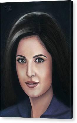Katrina Kaif - Pastel Canvas Print by Vishvesh Tadsare