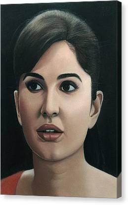 Katrina Kaif Canvas Print by Vishvesh Tadsare