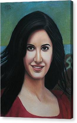 Katrina - The Beauty Of India Canvas Print