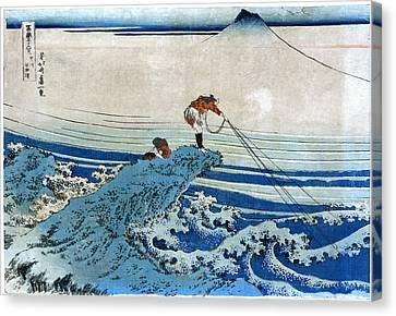 Katsushika: Fishing, C1834 Canvas Print by Granger