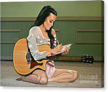 Katy Perry Painting Canvas Print by Paul Meijering