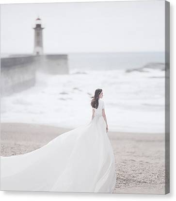 Dresses Canvas Print - Katya And The Lighthouse by Anka Zhuravleva