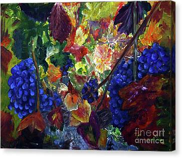 Katy's Grapes Canvas Print by Donna Walsh