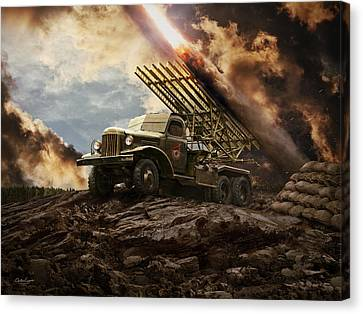 Katyusha Soviet Rocket Launcher Canvas Print by Anton Egorov