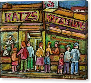 Katzs Delicatessan New York Canvas Print by Carole Spandau