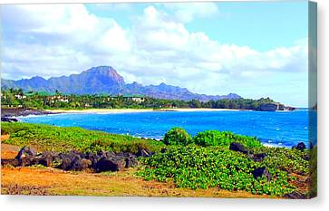 Kauai Beach Canvas Print by Angela Annas