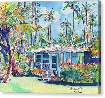 Kauai Blue Cottage 2 Canvas Print