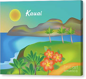 Kauai Hawaii Horizontal Scene Canvas Print by Karen Young