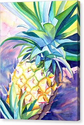 Kauai Pineapple 3 Canvas Print by Marionette Taboniar