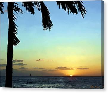 Kauai Sunset Canvas Print by Ellen Henneke