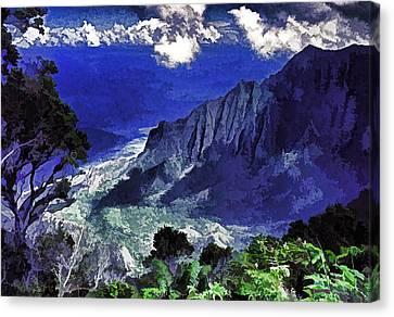 Kauai Valley Canvas Print by Dennis Cox