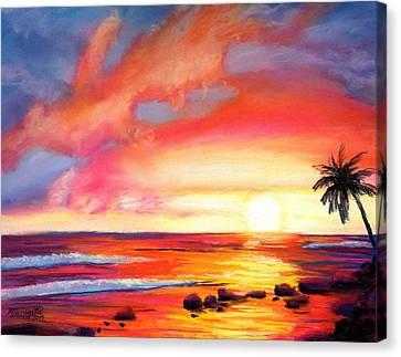 Kauai West Side Sunset Canvas Print by Marionette Taboniar