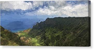 Kauaii Blue II Canvas Print by Jon Glaser