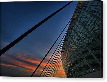 Kauffman Center Cabled Canvas Print by Thomas Zimmerman
