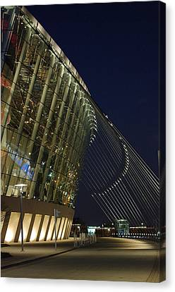 Canvas Print featuring the photograph Kauffman Center For The Performing Arts by Jim Mathis