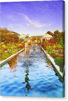 Kauffman Memorial Garden Reflections Rendering 16 Canvas Print
