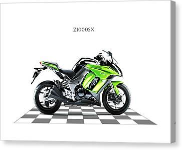 Motorcycle Canvas Print - Kawasaki Z1000sx by Mark Rogan