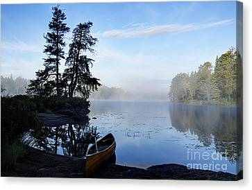 Kawishiwi Morning Canvas Print by Larry Ricker