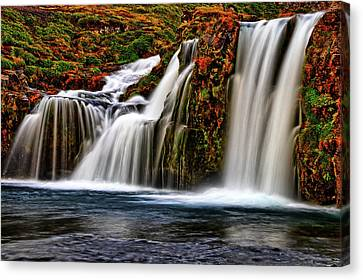 Canvas Print featuring the photograph Kay Falls by Scott Mahon