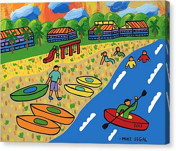 Kayak Beach - Cedar Key Canvas Print
