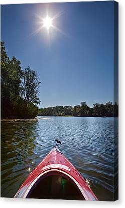 Kayak Morning Canvas Print
