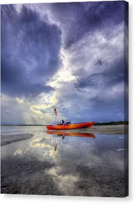Yak Canvas Print - Kayak Panama City Beach by JC Findley