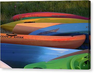 Canvas Print featuring the photograph Kayak by Tom Romeo
