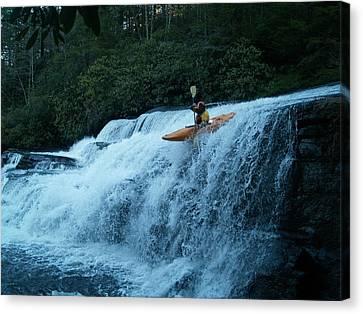 Kayak Triple Falls Canvas Print by Steven Sloan