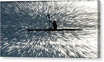 Kayak Zoom Canvas Print by Steve Somerville