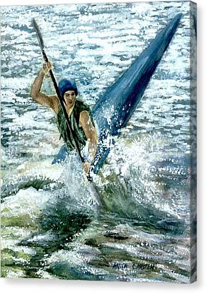 Kayaker Canvas Print by Anita Carden