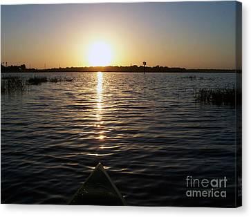 Kayaking Dawn Canvas Print
