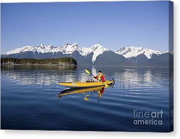 Kayaking Favorite Passage Canvas Print by John Hyde - Printscapes
