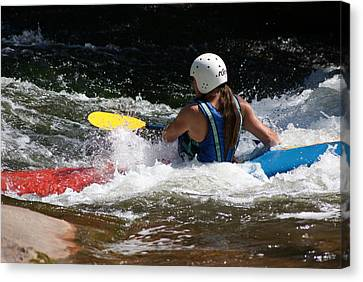 Kayaking The Brule Canvas Print by Ron Read