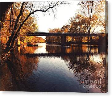 Kayaking The Driftwood River - Autumn Bliss Canvas Print