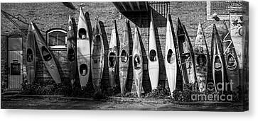 Kayaks And Canoes Canvas Print