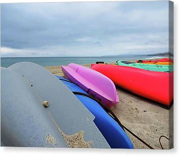 Kayaks Canvas Print by Connor Beekman