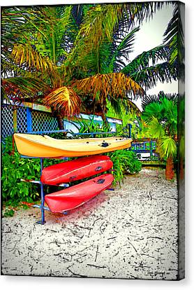 Kayaks In Paradise Canvas Print