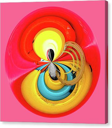 Canvas Print featuring the photograph Kayaks Orb by Bill Barber